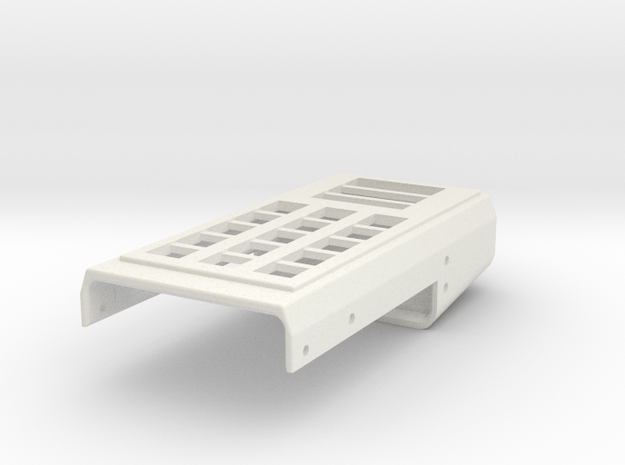 radiation monitor body top - part 1 of 3 in White Natural Versatile Plastic