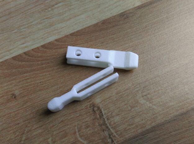 Lancia Delta 1 grill repair bracket SET in White Processed Versatile Plastic