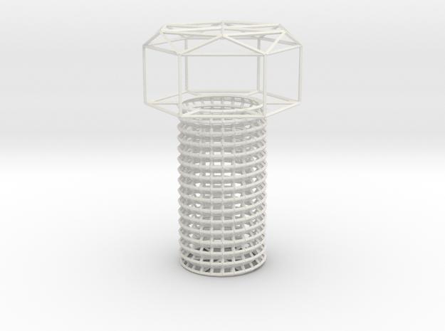 b-n10_15_tatesakujo_pipe_bolt in White Natural Versatile Plastic