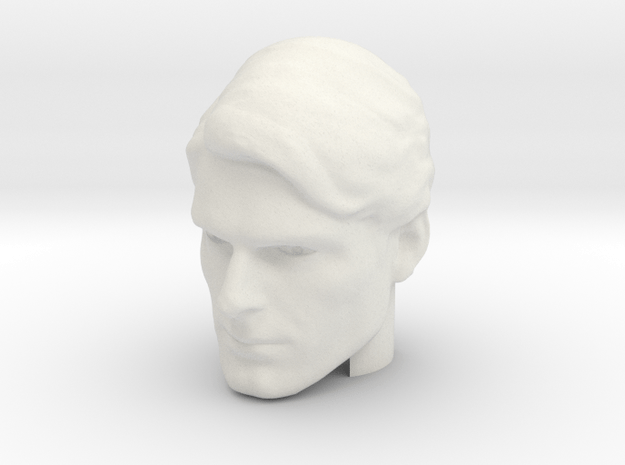 Superman head   Christopher Reeve in White Natural Versatile Plastic