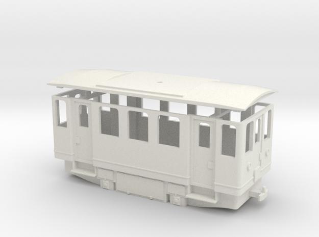 AE1s H0e / 009 simplified electric railcar in White Natural Versatile Plastic