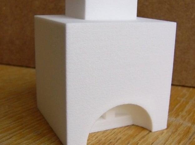 Historischer Hochofen mit Ofenkammer TT 1:120 in White Natural Versatile Plastic