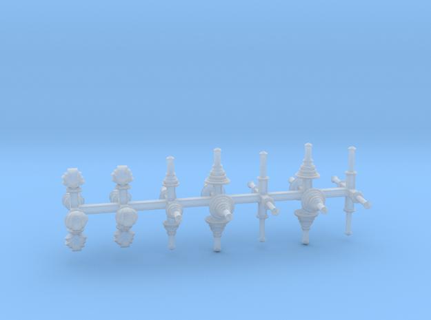 bay Dachaufsätze 3 - 1:120 TT in Smooth Fine Detail Plastic