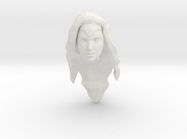 Wonder Woman Head in White Natural Versatile Plastic