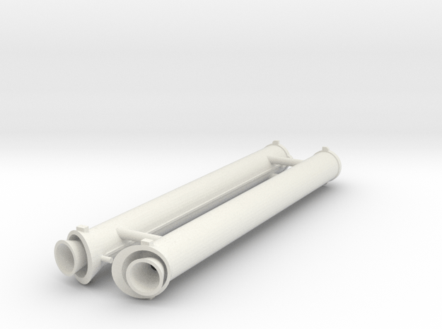 Ariane 4 PAP 9.5 boosters in White Natural Versatile Plastic: 1:128