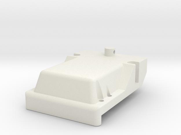 Yokomo 870c & Works Rear Cap in White Natural Versatile Plastic