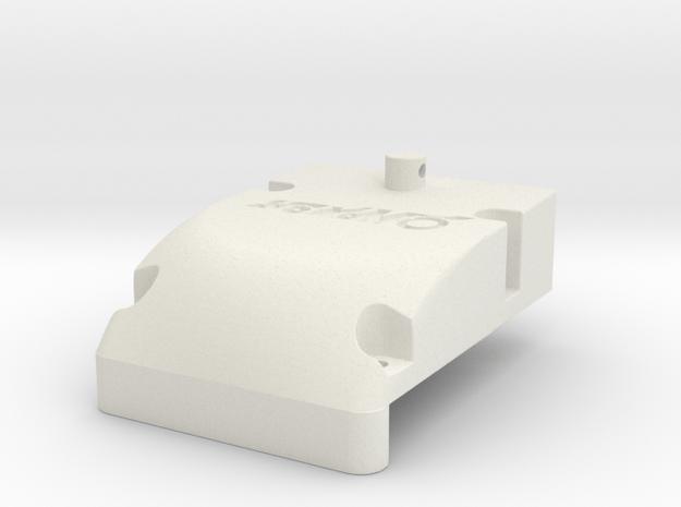 Yokomo 870c & Works Front Cap in White Natural Versatile Plastic