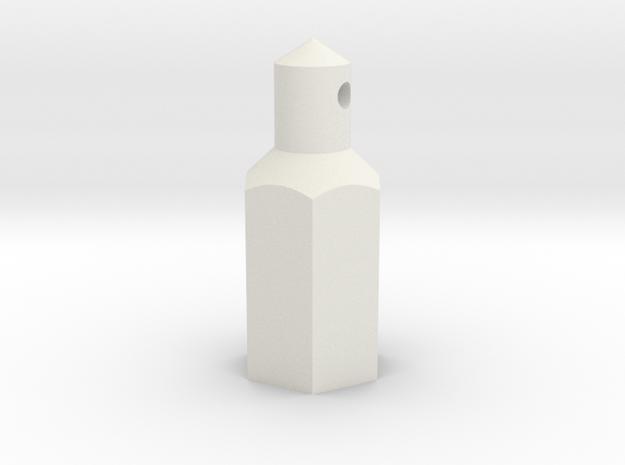 ZC-118 Individual battery post in White Natural Versatile Plastic