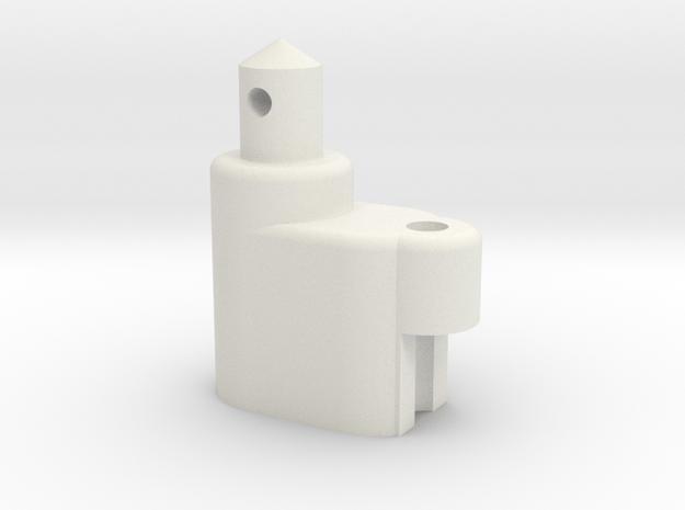 ZC-118 Individual Battery Post & Antenna in White Natural Versatile Plastic