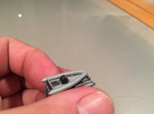 RHIB, no outboard engine (1:200) in Smooth Fine Detail Plastic