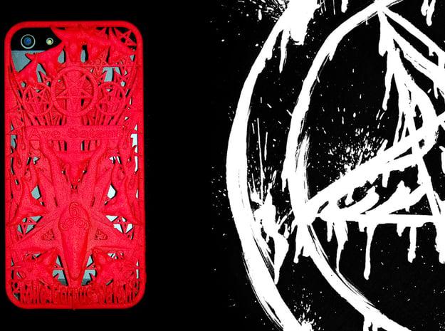 Ave Satani iPhone 5 Cover in Red Processed Versatile Plastic