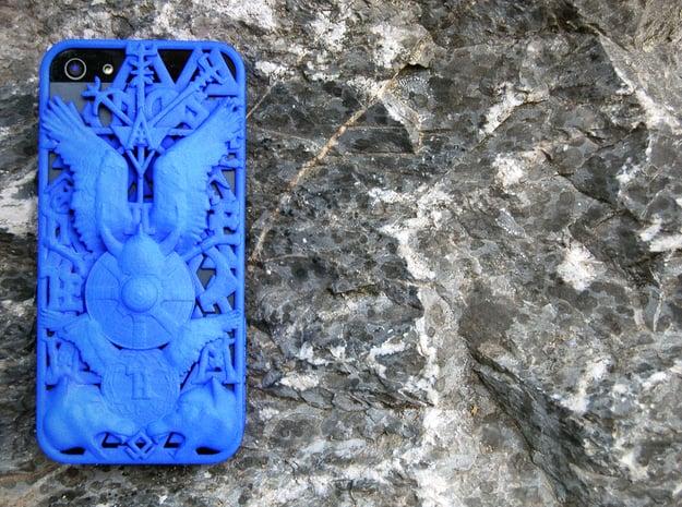 Ragnarök iPhone 5 Cover  in Blue Processed Versatile Plastic