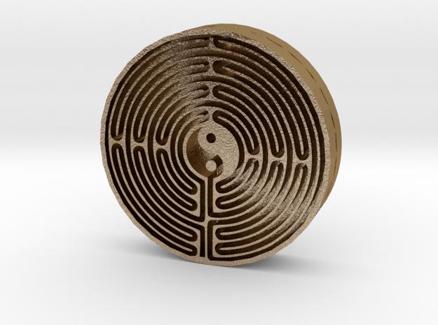 Medallion in Polished Gold Steel