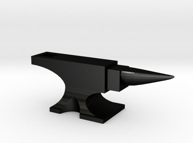 Anvil Pendant in Matte Black Steel