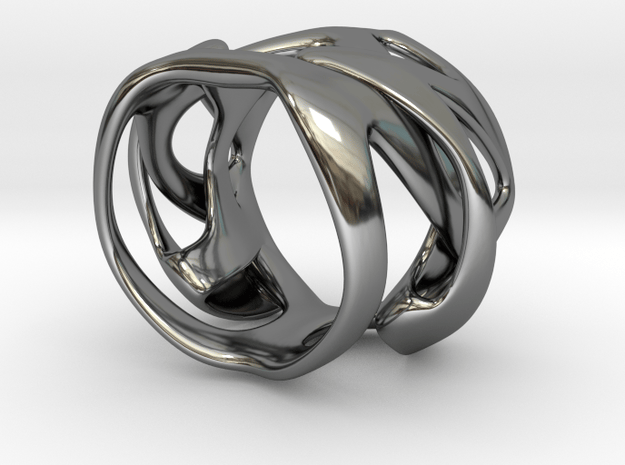 Thalia ring in Fine Detail Polished Silver: 12 / 66.5
