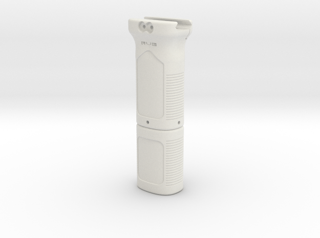 Magpul MOE styled foregrip battery holder for AEG  in White Natural Versatile Plastic
