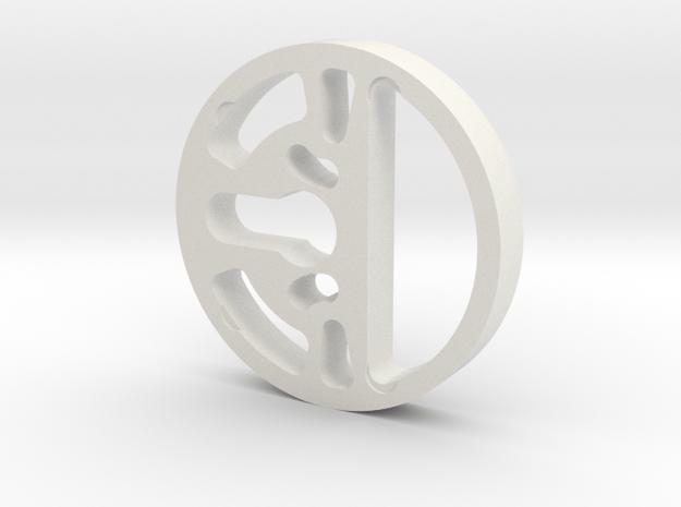 August Smart Lock Pro 12mm spacer in White Natural Versatile Plastic
