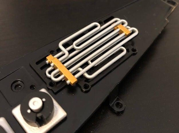 1:8 BTTF DeLorean Radiator in Smoothest Fine Detail Plastic