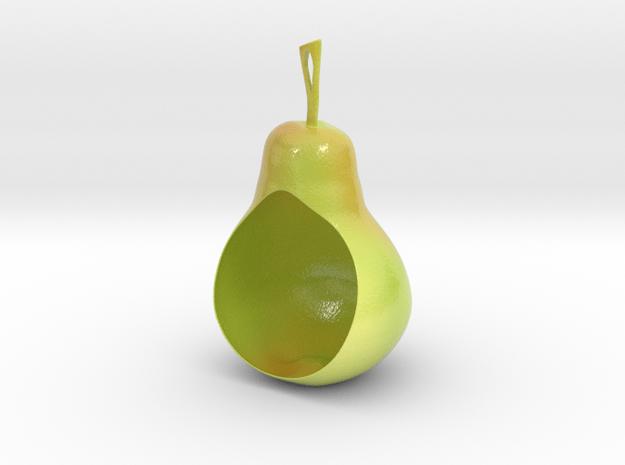 Pear Birdfeeder in Glossy Full Color Sandstone