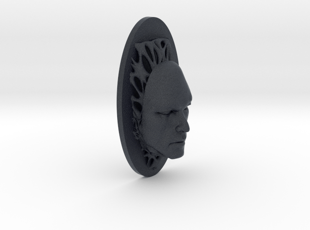 Man Full Face + Voronoi Support in Black PA12