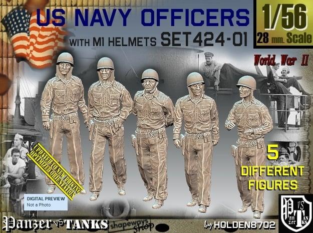 1/56 USN Officers Set424-01 in Smooth Fine Detail Plastic