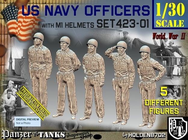 1/30 USN Officers Set423-01 in White Natural Versatile Plastic