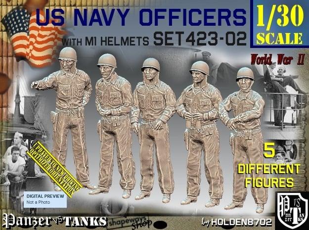 1/30 USN Officers Set423-02 in White Natural Versatile Plastic