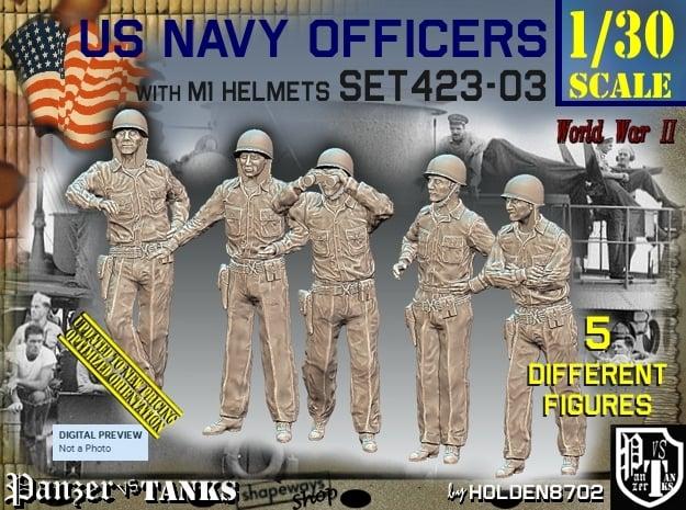 1/30 USN Officers Set423-03 in White Natural Versatile Plastic