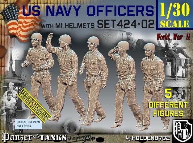 1/30 USN Officers Set424-02 in White Natural Versatile Plastic