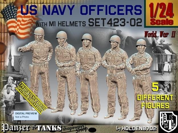 1/24 USN Officers Set423-02 in White Natural Versatile Plastic