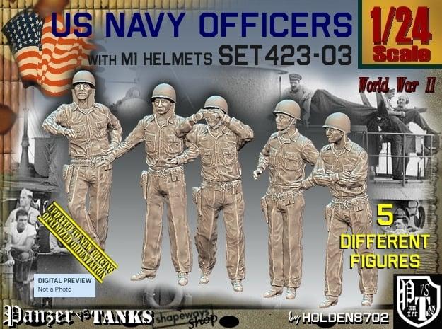 1/24 USN Officers Set423-03 in White Natural Versatile Plastic