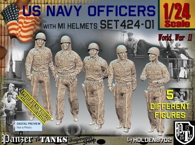 1/24 USN Officers Set424-01 in White Natural Versatile Plastic