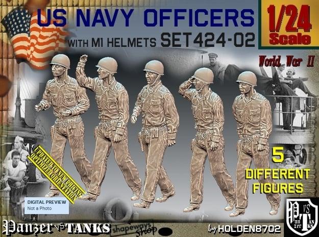 1/24 USN Officers Set424-02 in White Natural Versatile Plastic