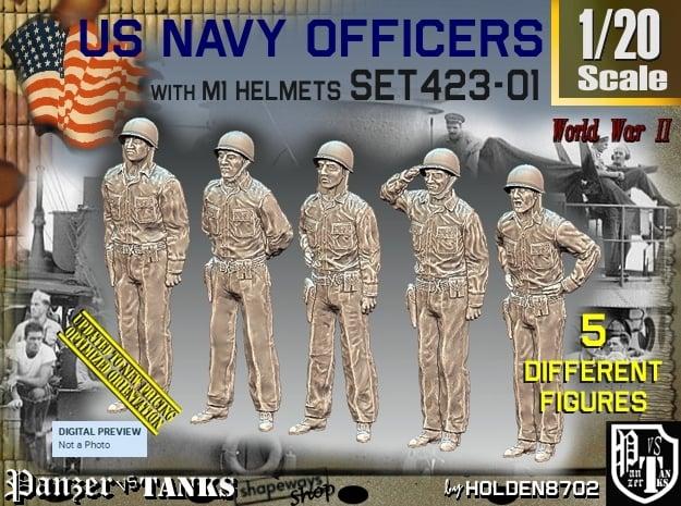 1/20 USN Officers Set423-01 in White Natural Versatile Plastic