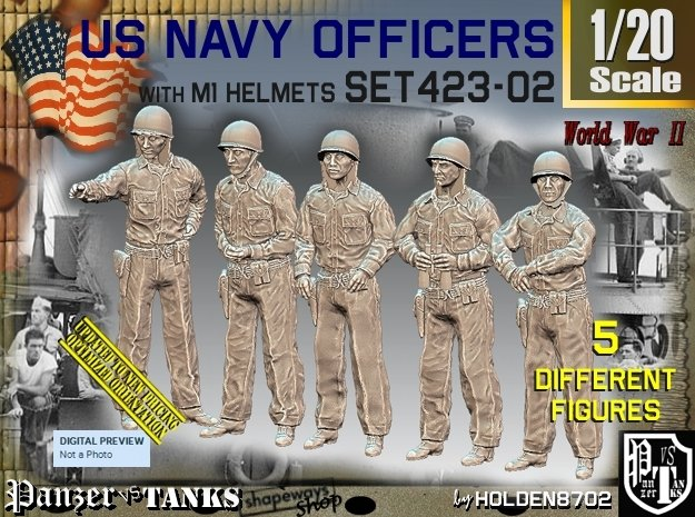 1/20 USN Officers Set423-02 in White Natural Versatile Plastic
