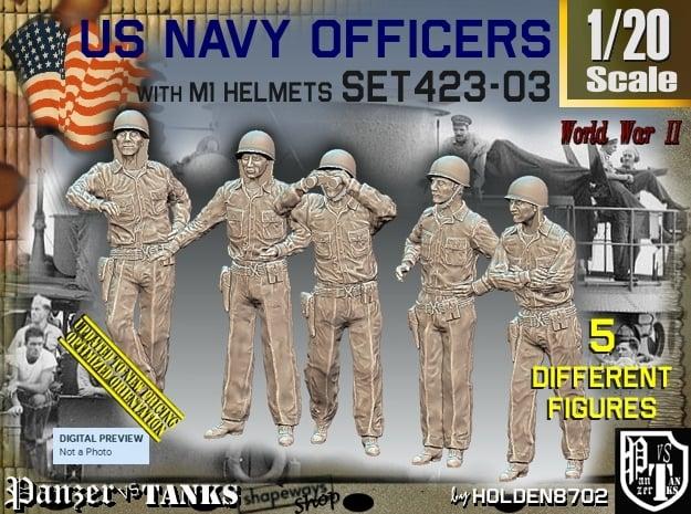 1/20 USN Officers Set423-03 in White Natural Versatile Plastic