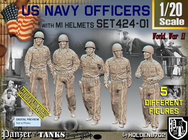 1/20 USN Officers Set424-01 in White Natural Versatile Plastic