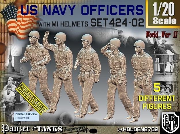 1/20 USN Officers Set424-02 in White Natural Versatile Plastic