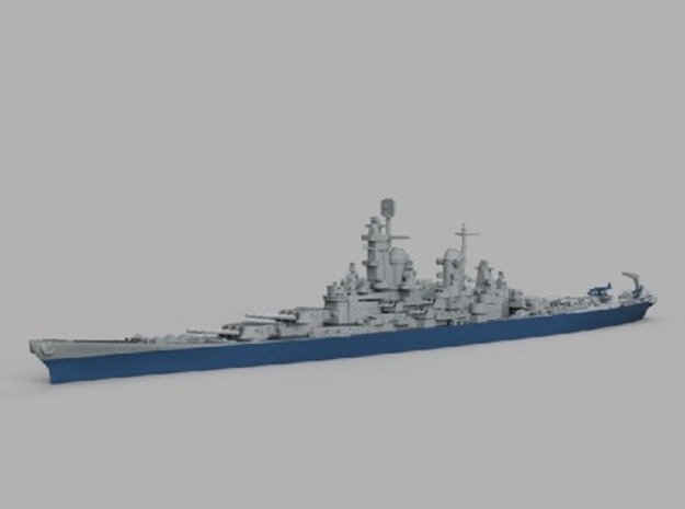 1/2000 USS Iowa 1943 in Smooth Fine Detail Plastic