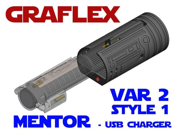 Graflex Mentor - Var2 - Charger in White Natural Versatile Plastic
