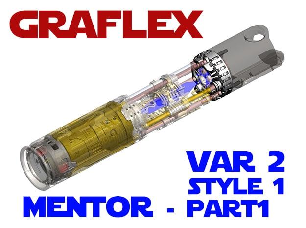 Graflex Mentor - Var2 Part01 - Blade Gen Style1 in White Natural Versatile Plastic