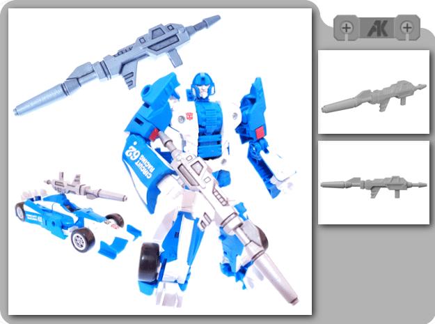CW Mirage Blaster in White Processed Versatile Plastic