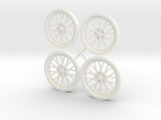 BBS Mono 1/12 wheel set foose in White Processed Versatile Plastic