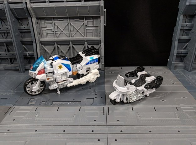 TF Combiner Wars Groove Motorcycle Cannon Set in White Natural Versatile Plastic