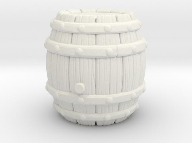 Barrel Stylized A in White Natural Versatile Plastic