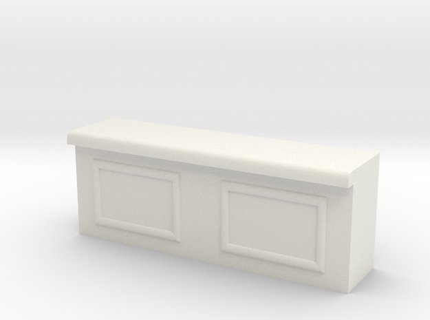 Modular Bar Counter - Center in White Natural Versatile Plastic