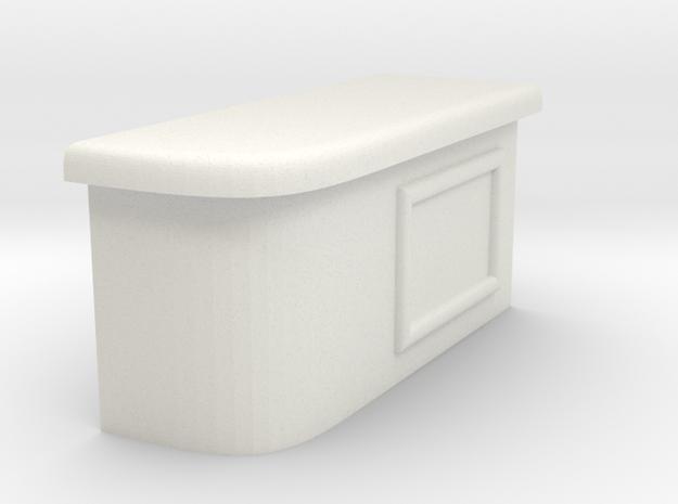Modular Bar Counter - Right in White Natural Versatile Plastic