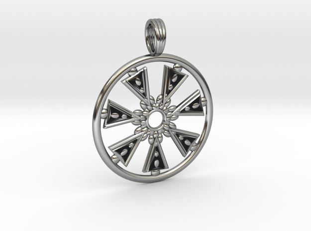 CHAKRA SEED in Antique Silver