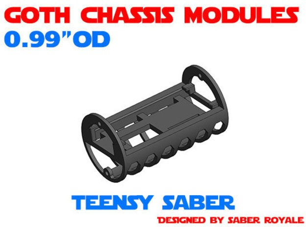GCM099 - Teensy Saber soundboards chassis in White Natural Versatile Plastic