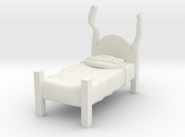 Twin Bed - Mimic in White Natural Versatile Plastic